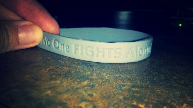 """No One Fights Alone"" is the mantra for Brain Cancer warriors. I think it should be a mantra for life."